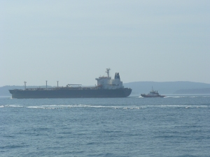 Escort-Rescue Tug with Oil Tanker