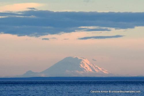 Mount Rainier about 90 miles away